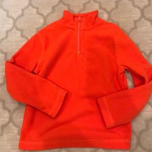 Boys fleece in orange